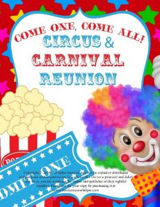 Three-Ring Circus and Carnival Reunion Theme