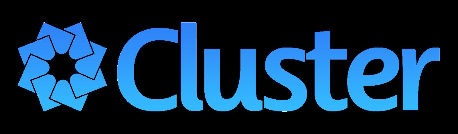 Blue Cluster Logo