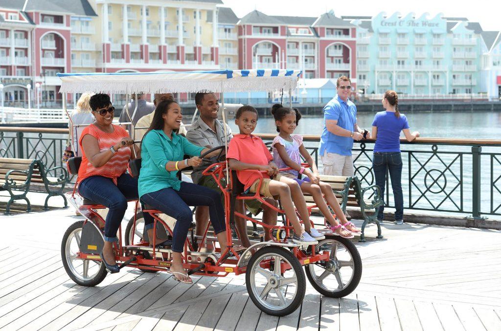 Disney World Boardwalk Family Bike Ride
